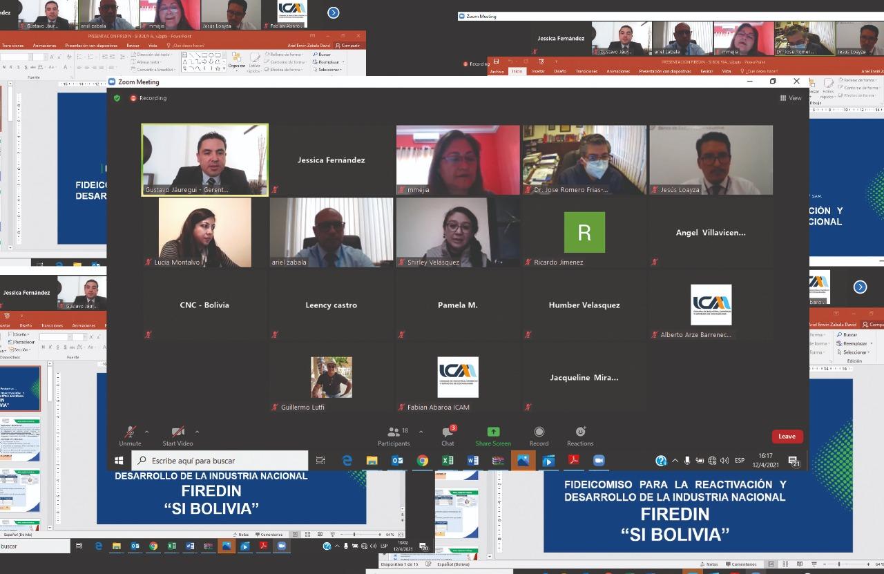 El BDP socializa el crédito SIBOLIVIA con la CNC Bolivia para la reactivación